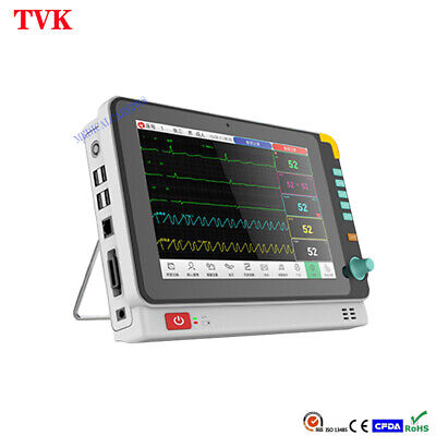 10.1 Multi-function 6 Parameters Portable Vital Signs Patient Monitor Icu Ccu
