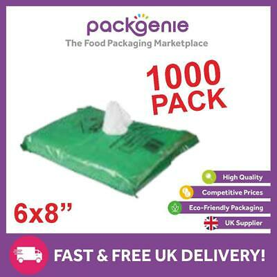 Polythene Poly Plastic Food Storage Bags Plain White 7mu, Butchers, Crackers