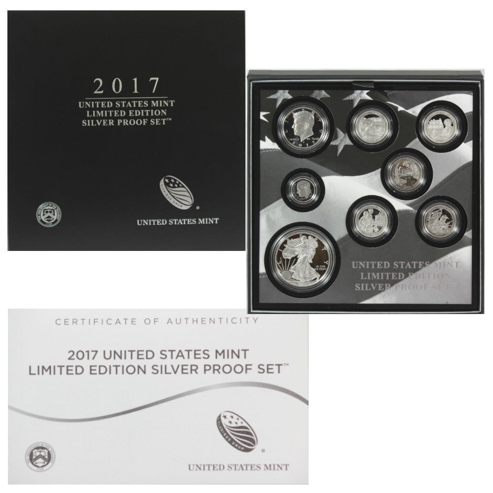 2017 S PROOF SILVER EAGLE LIMITED EDITION PROOF SET IN OGP SHIPS SAME DAY 17RC