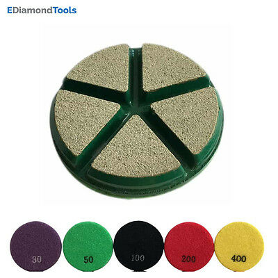 Concrete Transitional Grinding Pads 3pc 50 Grit 3 Diameter Ceramic Bond