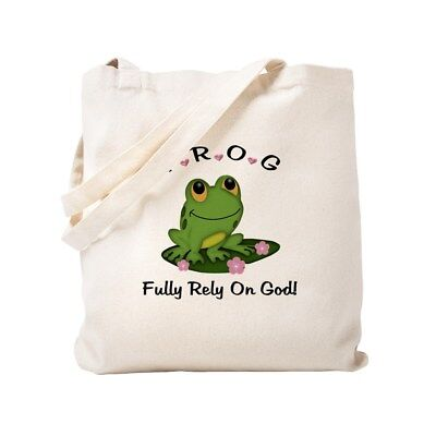 Frog Fully Rely On God (CafePress FROG Fully Rely On God Tote Bag)