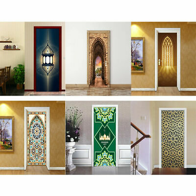 Muslim Creative 3D Door Wall Stickers Art Decal DIY Self Adhesive Home Decor New](Door Decorate)