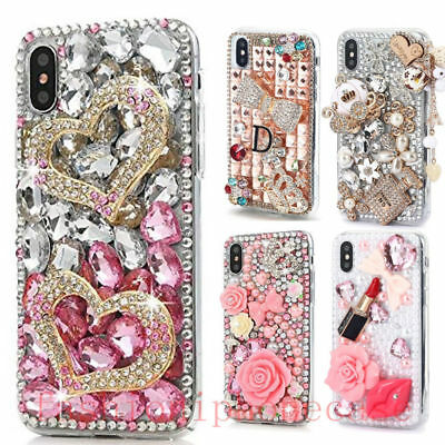 Handmade Luxury Bling Diamond Rhinestone Crystal Jewelled Back Phone Case Cover ()