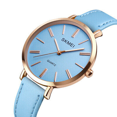 Fashion Women's Quartz Analog Leather Dress Luxury Waterproof Watches Colors US