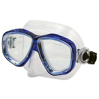 Store Display Scuba Diving Snorkeling Silicone Mask Water Sports Gear Blue