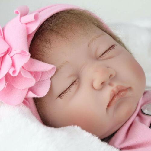 "Reborn Baby Dolls 22"" Real Life Sleeping Newborn Toddler Vinyl Silicone Doll Toy"