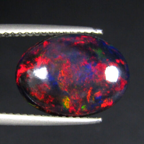 """2.93CTS EXQUISITE 3D MULTI COLOR NATURAL WELO BLACK OPAL LOOSE GEMSTONE """"VIDEO"""""""