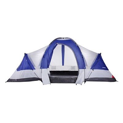 North Gear Camping Deluxe 8 Person 2 Room Family Camping Tent