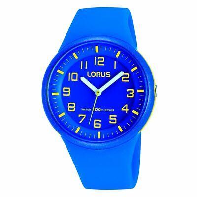 Lorus Niños Eléctrico Azul Reloj Con Amarillo Claro Árabe Numerales (RRX51DX9)