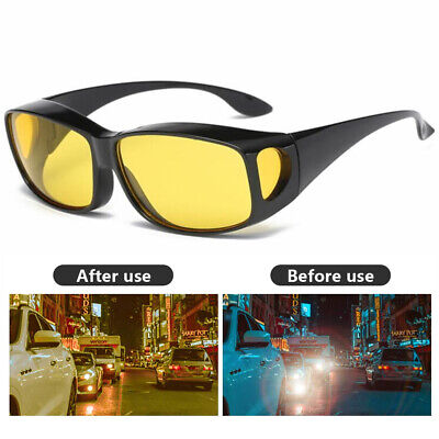 HD Night Vision Driving Glasses Polarized Night Sight Anti Glare Sunglasses (Yellow Polarized Glasses)