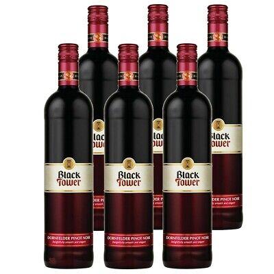 6 Black Tower Dornfelder Pinot Noir Rotwein 12% vol 6 x 75cl Black Tower Pinot