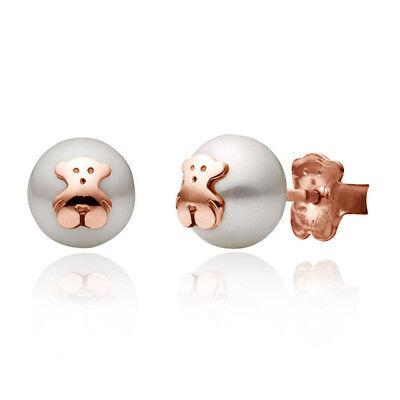 Cute Teddy Bear Earrings 14k Rose Gold Woman Jewelry Earrings