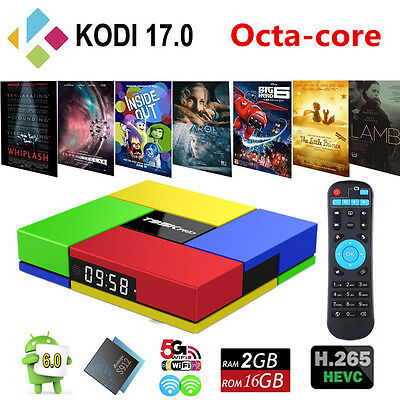 2G 16G T95K PRO Android 6.0 Smart TV box Octa Core Amlogic S912 1000M LAN KODI
