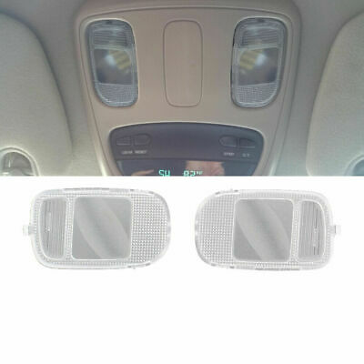 LH RH For 2002-2010 Dodge Ram Overhead Console Reading Light Lamp Lens Set