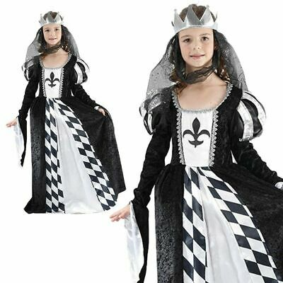 Märchenbuch Schach Königin Kostüm Mädchen Mittelalterlich Buch Woche - Schwarz Schach Königin Kostüm