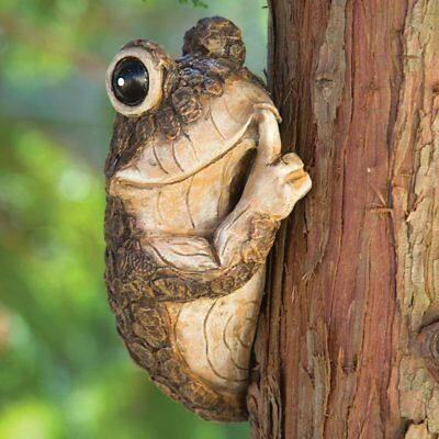 Tree Frog Sculpture Garden Decor Yard Home Hugger Outdoor Durable Animal - Yard Decor