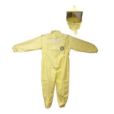 Professional Beekeeping Protective Full Body Suit With Hat Veil - Extra Large