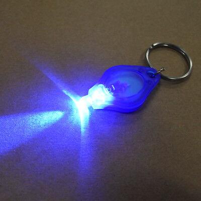 470nm Ultra Bright Blue Keychain Lights LED Micro Portable Mini Blue Beam Light