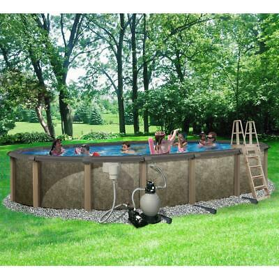 "Oval 54"" Tall Salt Friendly Above Ground Swimming Pool Kit Free Shipping!"