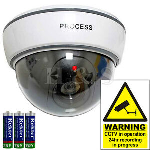 top quality fake dummy dome cctv security camera flashing. Black Bedroom Furniture Sets. Home Design Ideas