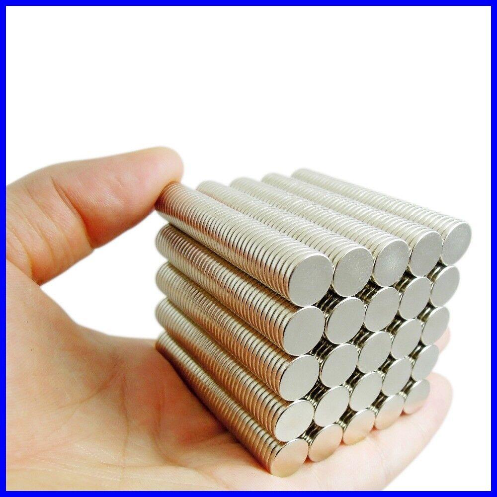Neodym Magnete super stark Scheiben Würfel N35 N45 N50 doppelt vernickelt Scheibe - Ø 16 X 2mm