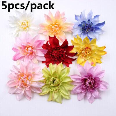 Artificial Small Silk Gerbera Flower Heads Single Stem Daisy Colourful Flowers~