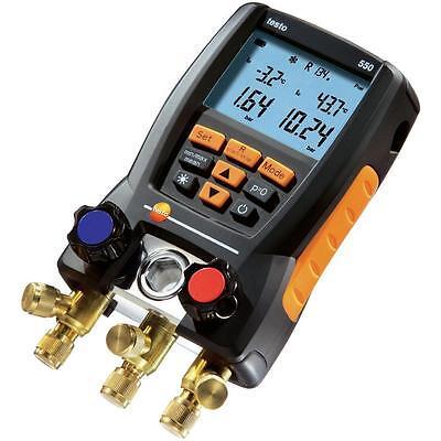 Testo 550 Refrigeration Digital Manifold Kit, 2-Clamp Probes (0563 1550)