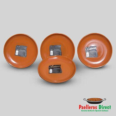 Set of 4 Authentic Spanish Terracotta Plates - 23cm Diameter
