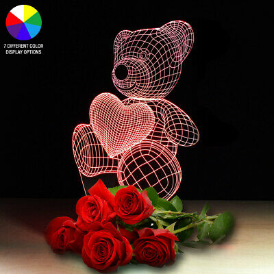 LED Light Gift For Her Girlfriend Wife Woman Mom Love Teddy