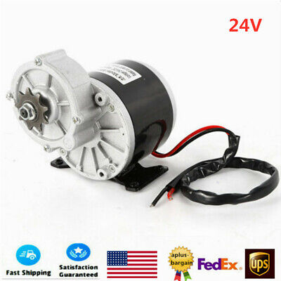 24v Dc 350w Electric Motor Bicycle Bike Scooter Gear Reduction 2 Poles