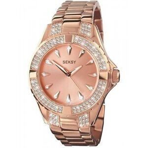 SEKSY LADIES ROSE GOLD PLATED INTENSE WATCH MODEL 4669  RRP £89.99