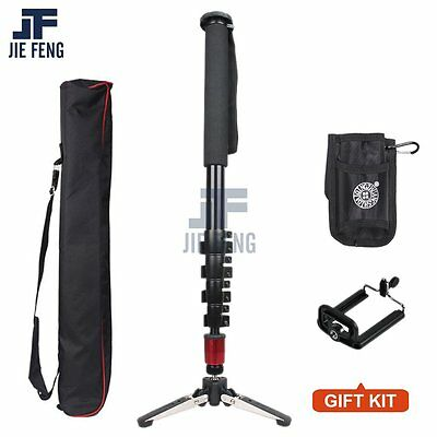 Pro Alumninum Alloy Camera DSLR Unipod Monopod Flip Lock with 3 Legs Base Tripod