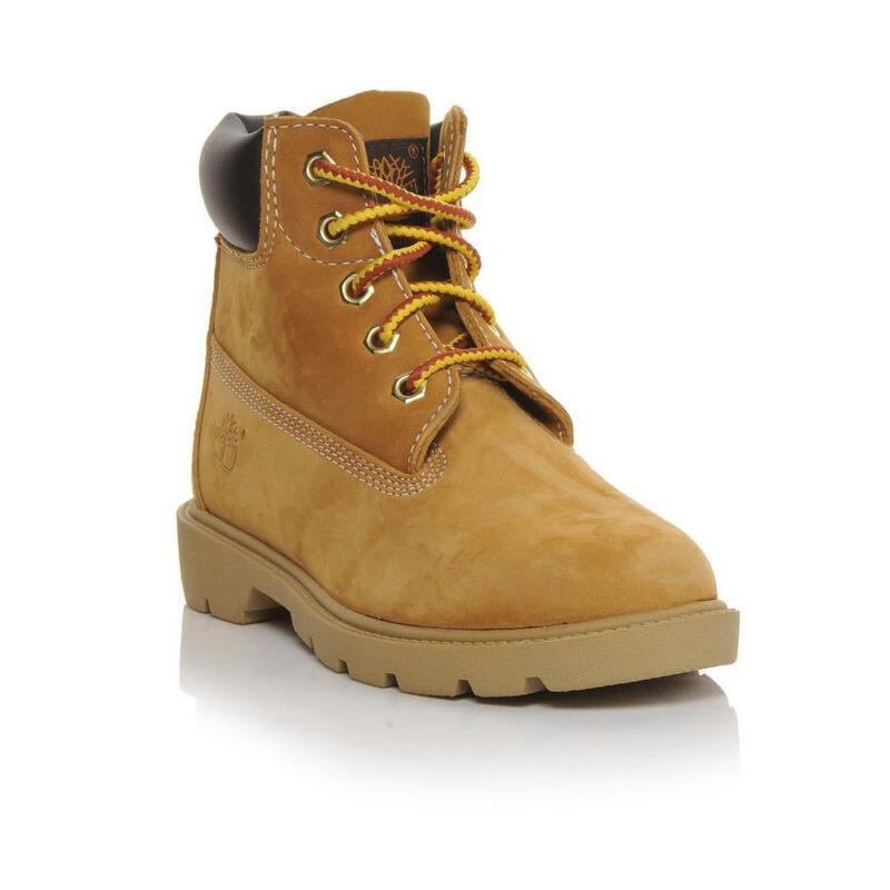 """Kids Timberland 6"""" Classic Boots Wheat / TB10960 / GS Waterproof Single Sole"""