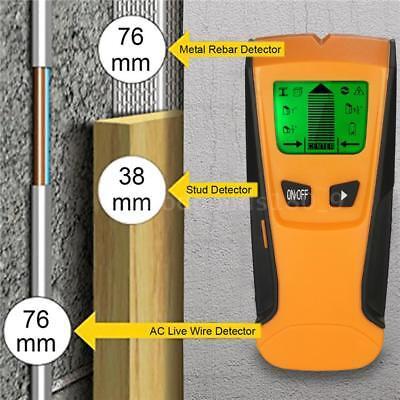3 In 1 LCD Stud Legno Muro CENTRO FINDER Scanner Metallo AC Rilevatore Filo D6J1