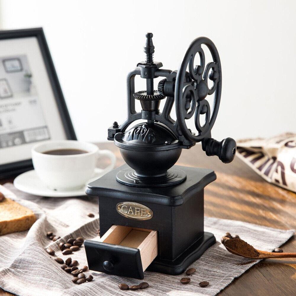 Kaffeemühle manuell Keramikmahlwerk Handkaffeemühle Handmühle Mühle Holz