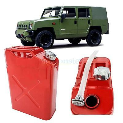 20L Steel Gasoline Gas Fuel Can Emergency Backup Gas Storage Tank Red Portable