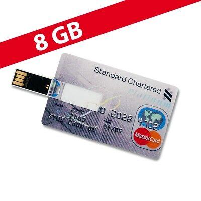 8 GB Speicherkarte in Scheckkartenform Standard Chartered Platinum USB