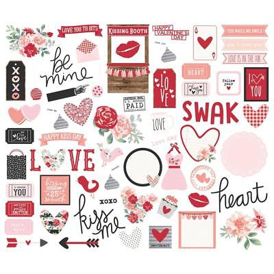 Kissing Booth (SIMPLE STORIES- EPHEMERA DIE-CUT BITS & PIECES- KISSING BOOTH (66 PIECES))