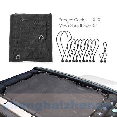 5 Star-4 door Bosmutus Sunshade Top Covers For J-e-e-p Wrangler 4 doors JK JKU 2007-2017 UV Protection Bikni Top Net Mesh Full Net