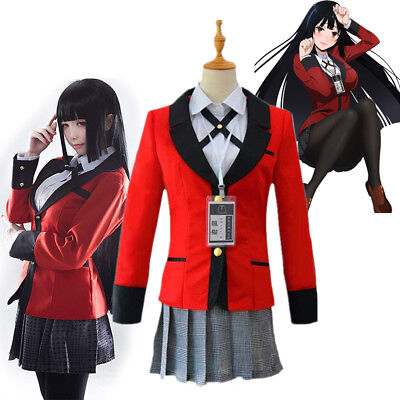 Kakegurui Yumeko Jabami Saotome School Girls Uniform Cosplay Costume Halloween - Adult School Girls