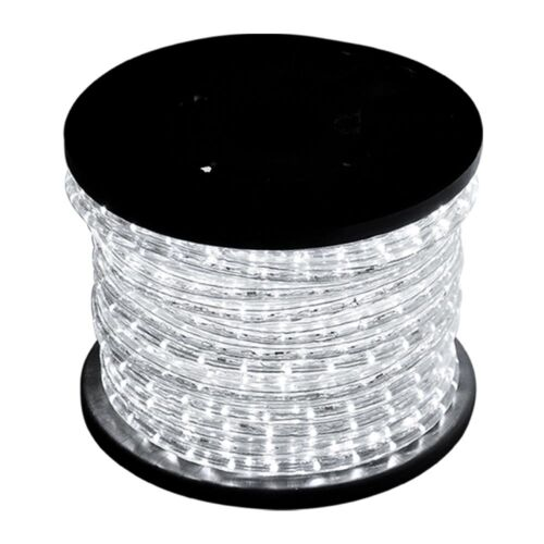New 150ft Cool White 2 Wire Led Rope Light Home Outdoor Christmas Lighting 110v