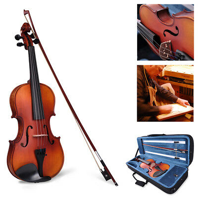Vif 4/4 Full Size Stradivari Copy Style Violin Fiddle w/Case Bow Rosin Set Pro