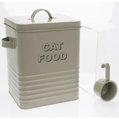 CAT FOOD FOOD STORAGE CONTAINER IN SAGE GREEN WITH SCOOP Cat Food Storage Scoops