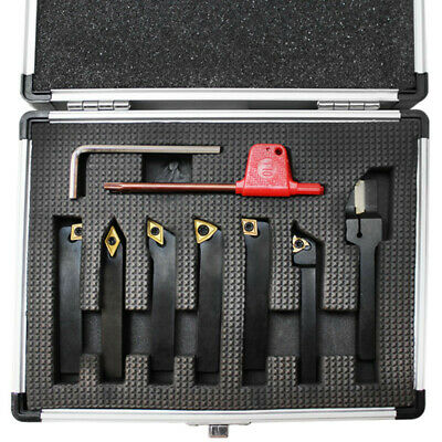 7 Pc 14 Indexable Turning Tool Set With Carbide Inserts Lathe Tool Holer