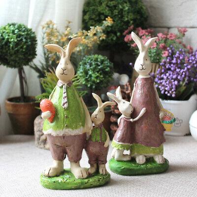 Rural Rabbit Family Ornament Home Decoration Resin Crafts Home Adornment Accesso