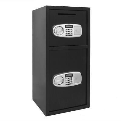 30.5 Digital Electronic Iron Safe Box Keypad Lock Home Office Hotel Gun Black