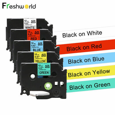 5pk Tze231 631 Compatible With Brother P-touch Tz Label Tape 12mm Black On White