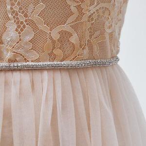 S217 new thin rhinestone bridal sash pearl crystal wedding for Belts for wedding dresses ebay