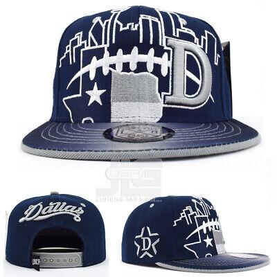 Dallas New Leader City Skyline D Map Navy Blue Grey Snapback Hat Cap