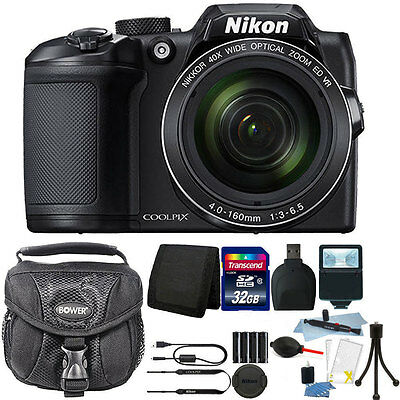 Nikon Coolpix B500 16MP Point & Shoot Camera with 32GB Accessory Kit